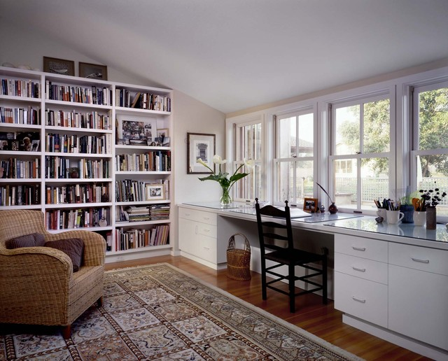 Pescadero House contemporary home office