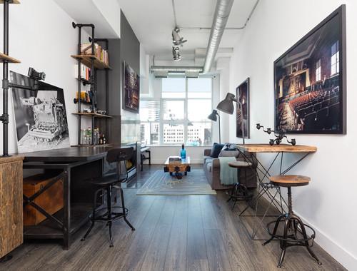 Industrial Home Office by Toronto Interior Designers & Decorators Rad Design Inc