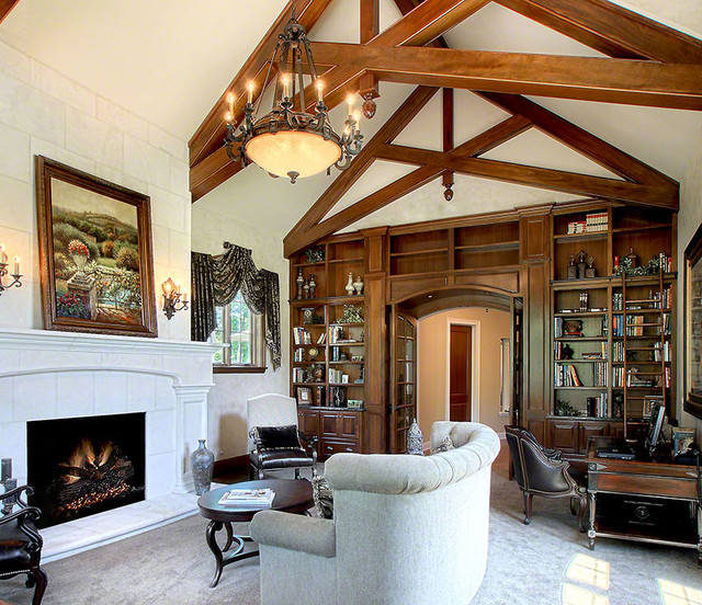 Plano Traditional Home Library Renovation