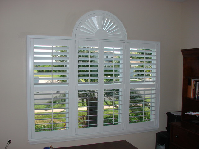 Plantation Shutters contemporary-home-office