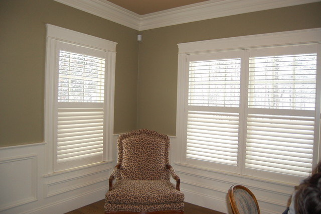 Plantation Shutters Traditional Home Office Boston