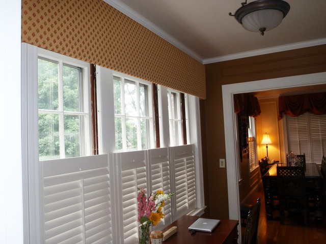 Wonderful Plantation Shutters Traditional Home Office