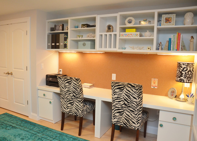 pleasant basement transitional home office boston by oco