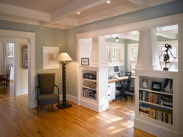 Porter Street Office - Craftsman - Home Office - DC Metro - by Moore Architects, PC