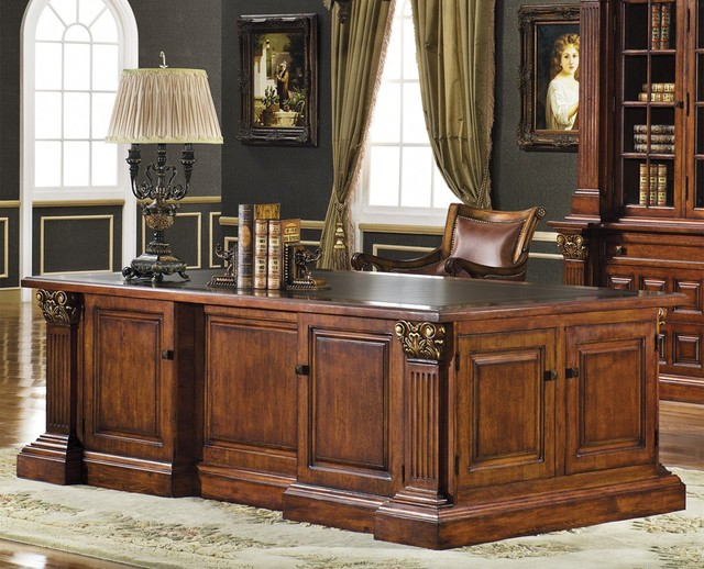 Princeton Executive Desk  Traditional  Home Office  Library