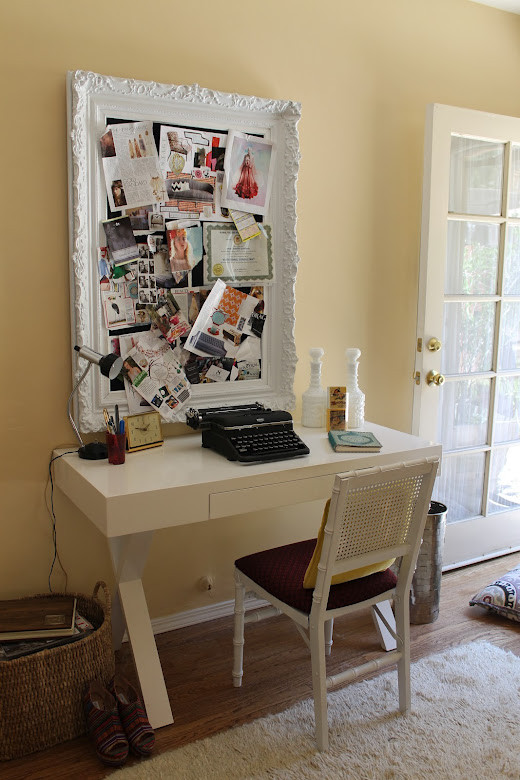 Example of an eclectic home office design in Los Angeles