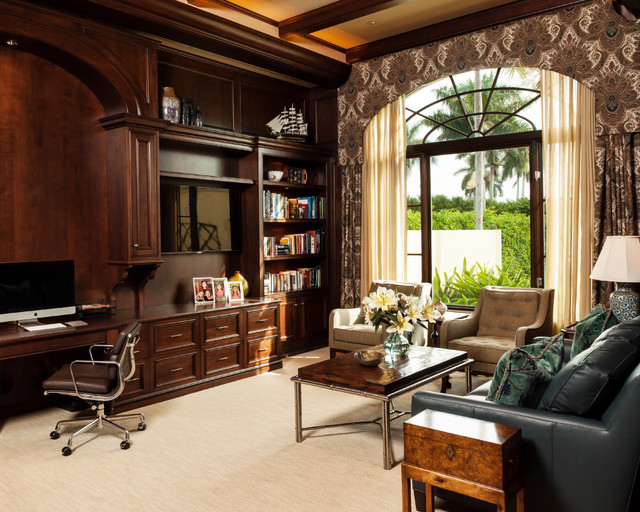 Private Residence In Port Royal Beach Style Home Office