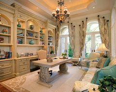 Private Residence, Naples, Florida mediterranean-home-office