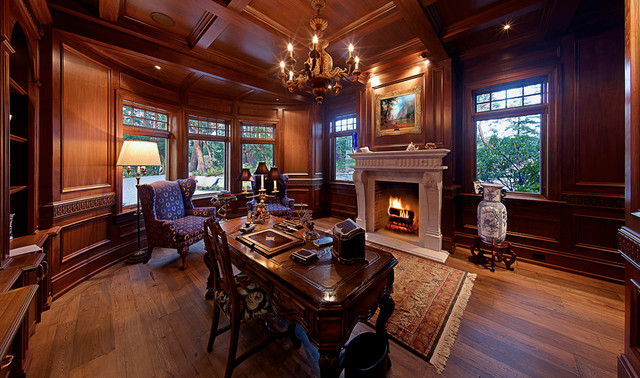Private Residence Recreated a 200 Year old French Villa : traditional home office from www.houzz.com size 640 x 378 jpeg 123kB