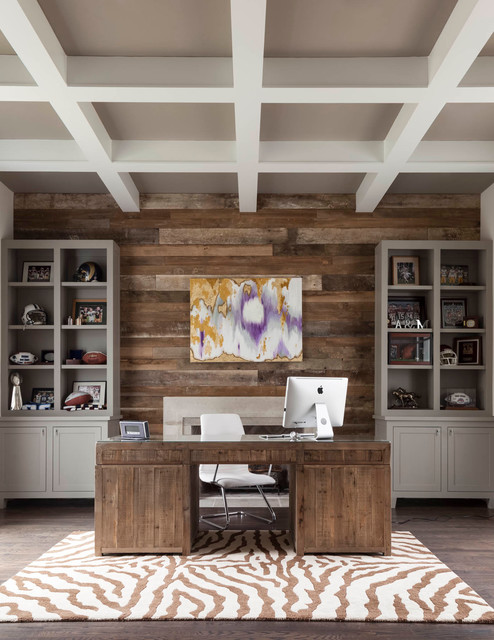 Purdue Perfection - Transitional - Home Office - dallas - by Robert Elliott Custom Homes