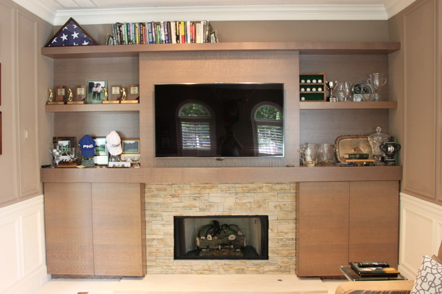 Example of a transitional home office design in Indianapolis