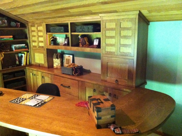 quarter sawn white oak custom built desk office asian