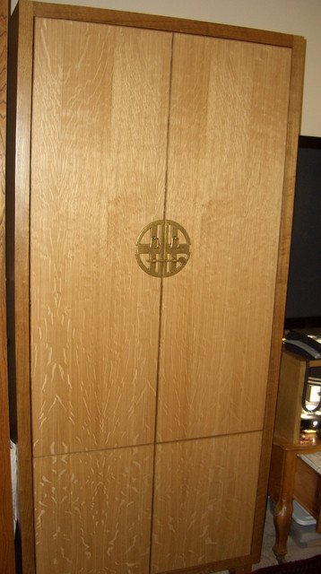 Quarter sawn white oak office and media cabinets - Modern - Home Office - san francisco - by ...