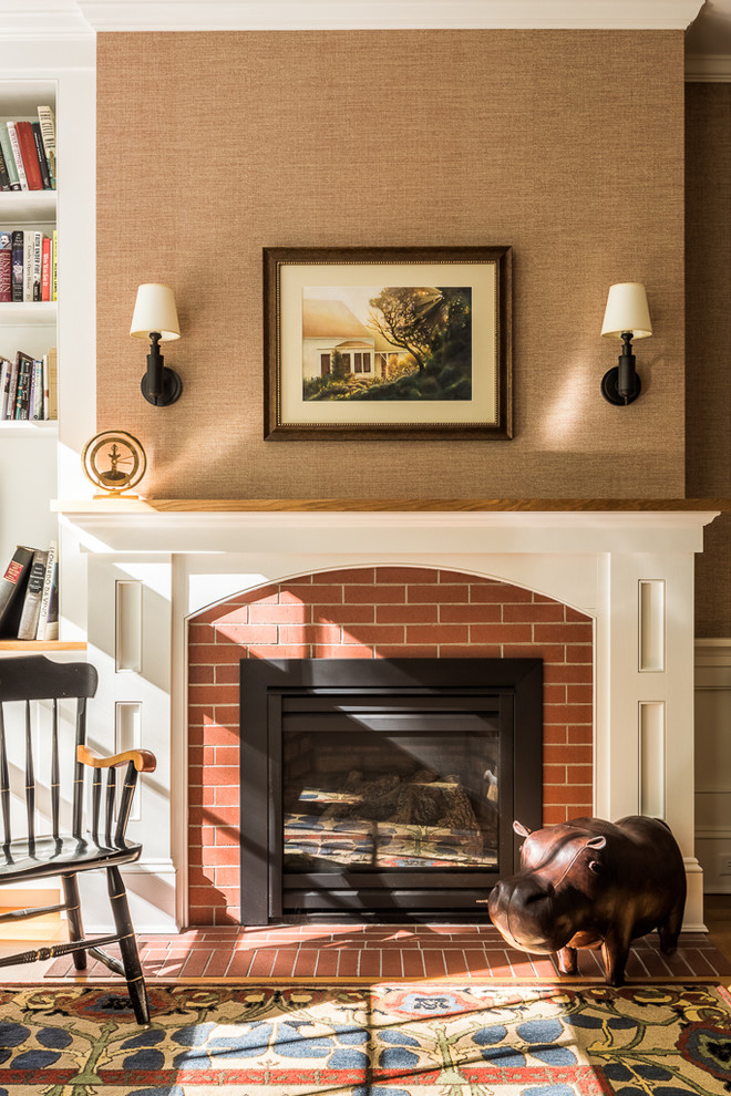 Inspiration for a timeless home office remodel in Portland Maine