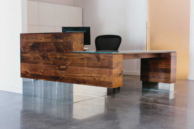 Reception Desk Modern Home Office Atlanta By Skylar Morgan Furniture Design