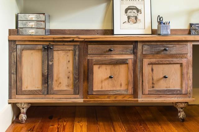 Reclaimed Wood Rustic Home Office: Reclaimed Skip-Planed Oak Furniture