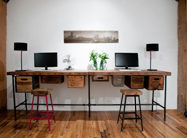 wood home office desk. simple wood reclaimed wood desks and home office furntiure eclectichomeoffice andlibrary intended desk f