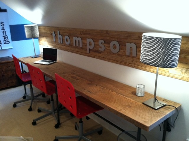 Reclaimed wood desks and home office furntiure modern for Office furniture at home goods