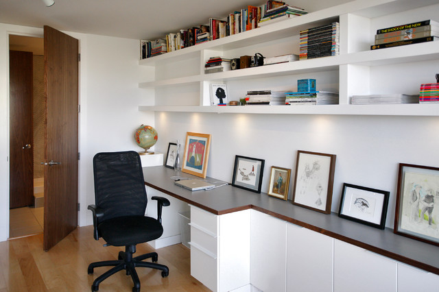 Rectangle modern home office calgary by rectangle for Home office fitout
