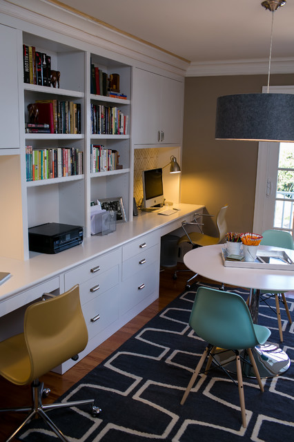 Reichelt family office contemporary home office dc for Home office playroom design ideas