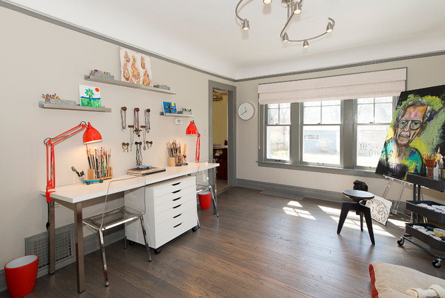 Captivating Rescuing A 1920s Sears Home Transitional Home Office