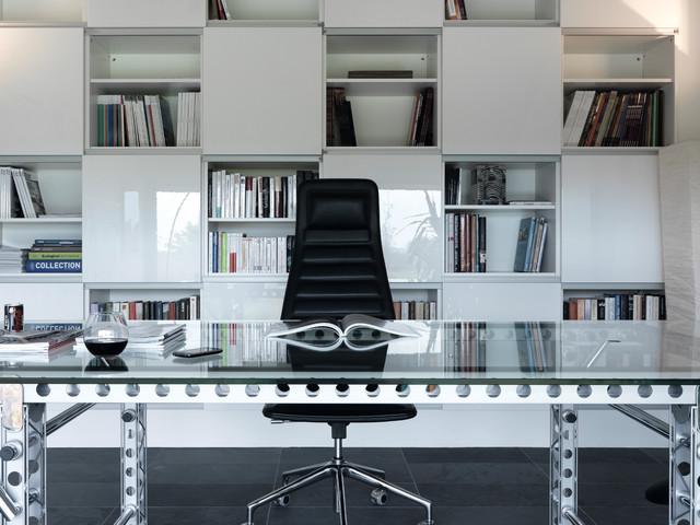 residential building martelange modern home office