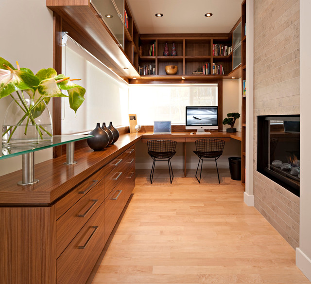 Residential modern home office calgary by tracy - Houzz interior design ...