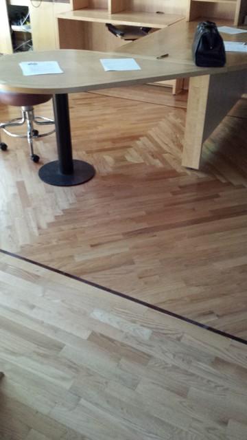 Residential wood floors craftsman home office las for Residential wood flooring