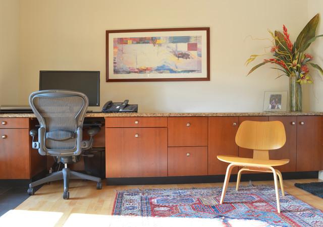Rick & Susan Hibbs midcentury-home-office