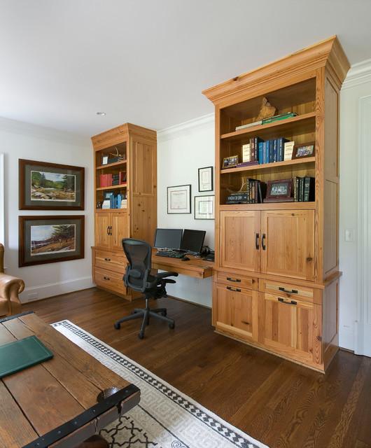 Ridgewood road renovation traditional home office for Woodworks design office 8