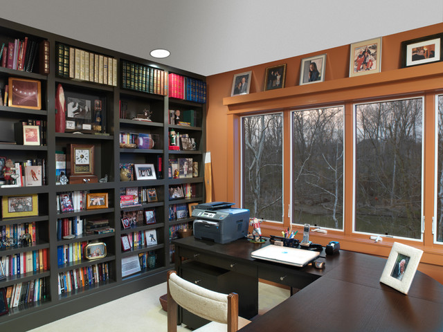 contemporary home office by Andrew Melaragno, AIBD