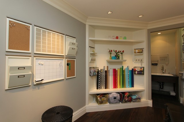 Storage Solutions For Craft Rooms: Robeson Design Craft Room, Gift Wrap Storage Solutions