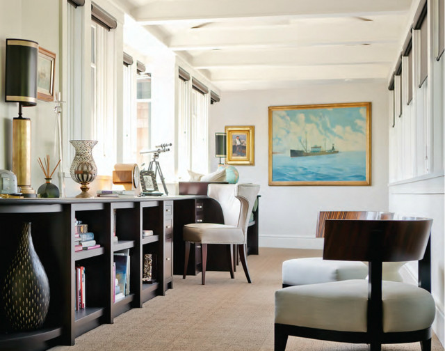 Rockport  Maine contemporary-home-office