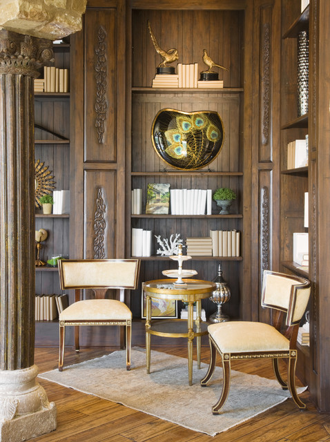 Rough Hollow Study mediterranean home office
