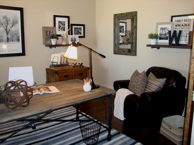 Rustic Industrial Office Design - Eclectic - Home Office - other metro - by Bolen Designs