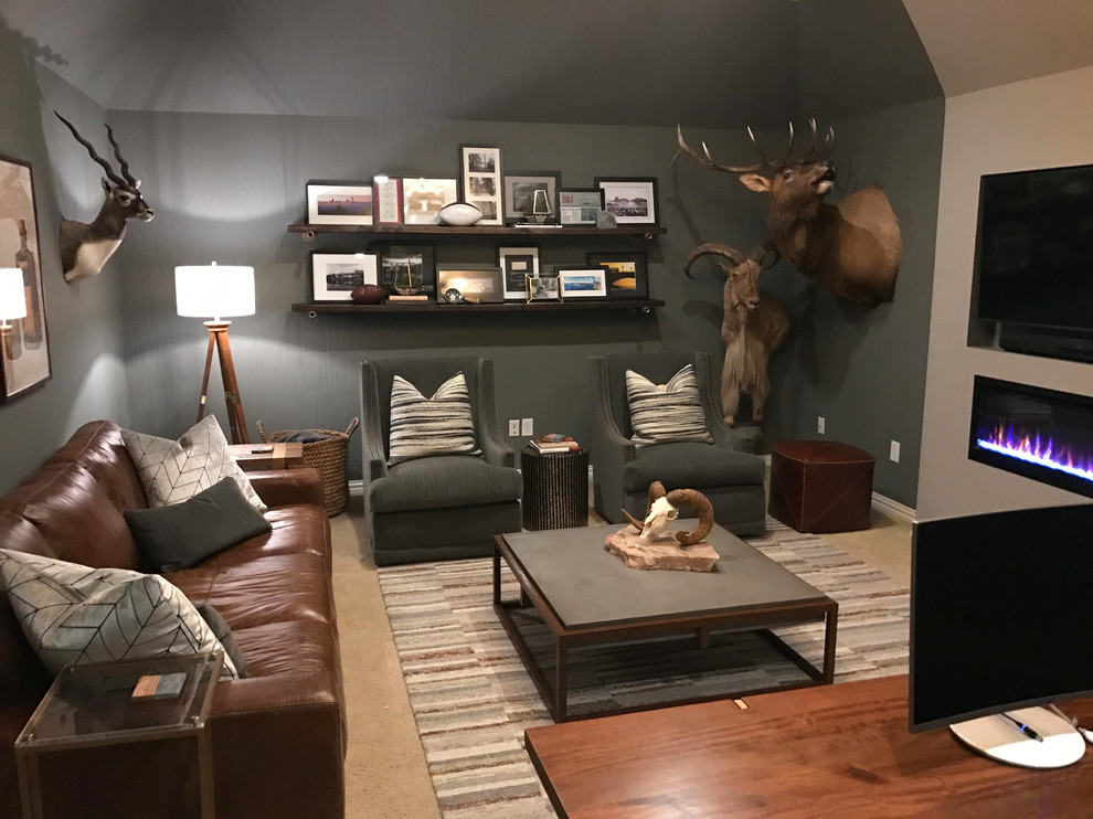 Rustic Luxe Man Cave Home