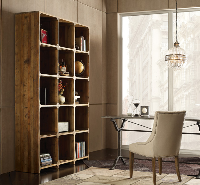 Rustic Reclaimed Wood Open Bookcase - Contemporary - Home ...