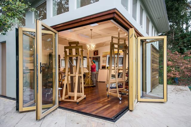 san francisco bay area artist studio - contemporary - home office - san francisco