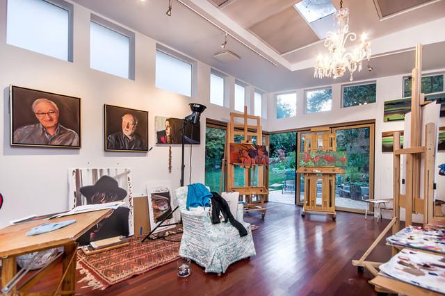 Modern Art Classroom ~ San francisco bay area artist studio modern home
