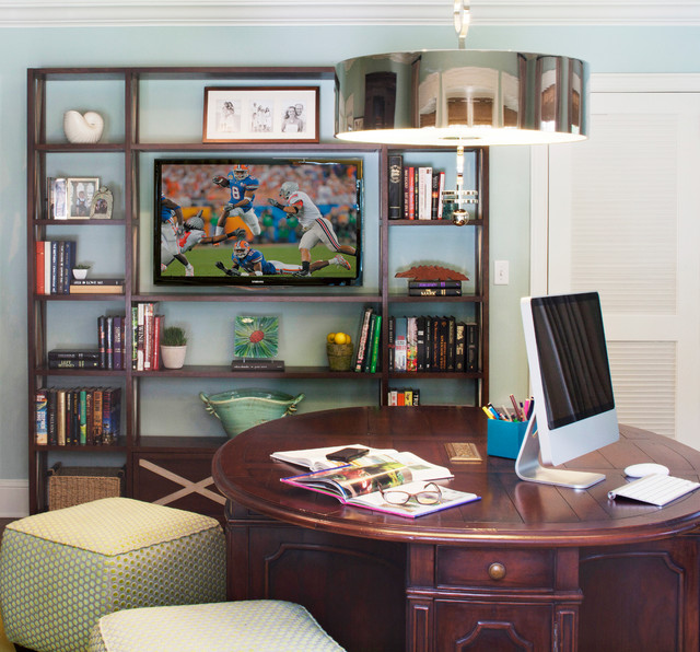 San marco family home transitional home office