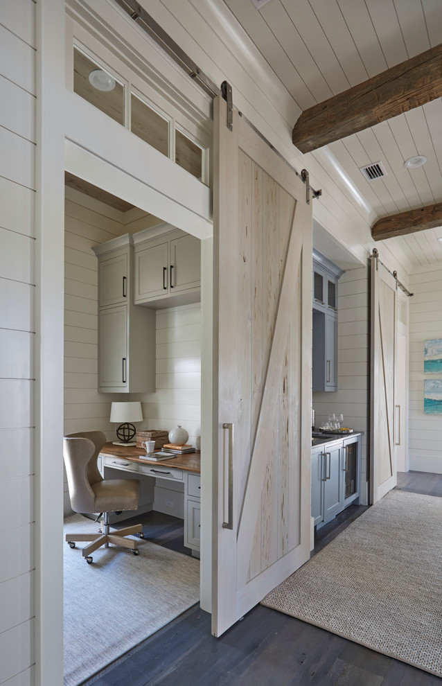 Inspiration for a coastal home office remodel in Miami