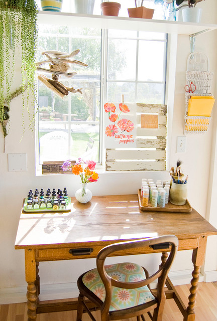 Santa Ynez eclectic home office