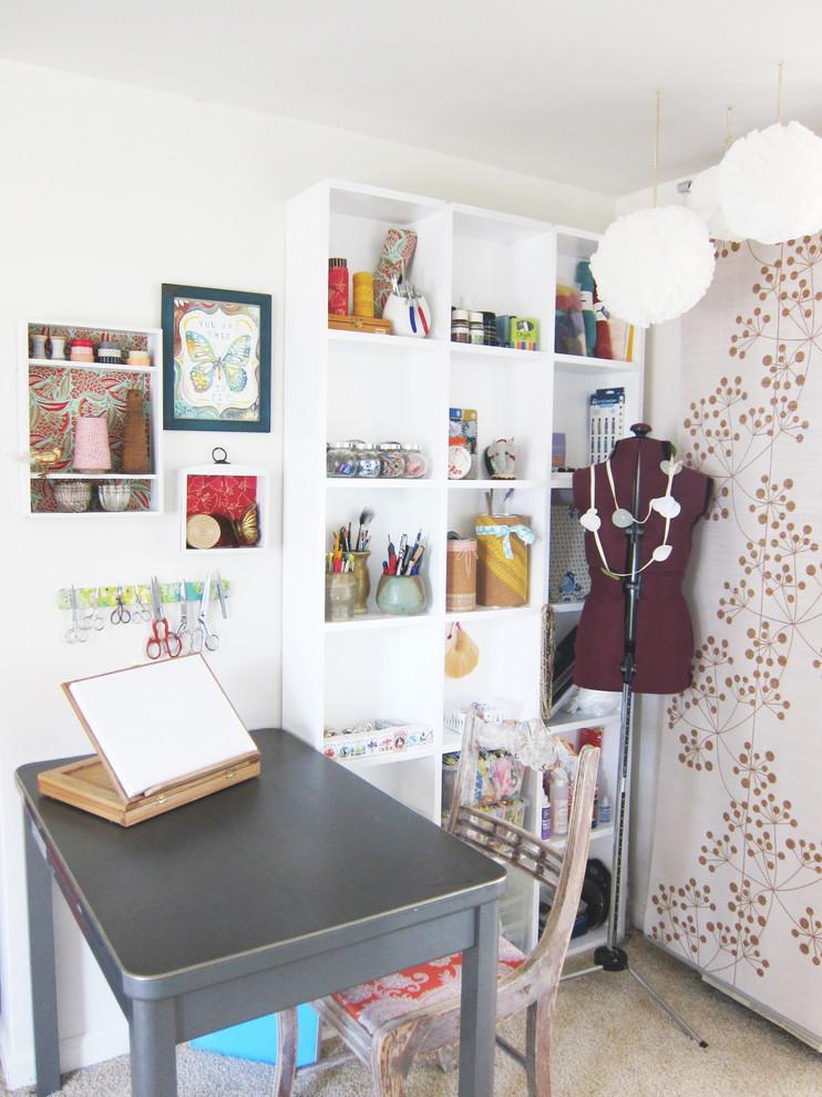 Eclectic craft room photo in Santa Barbara