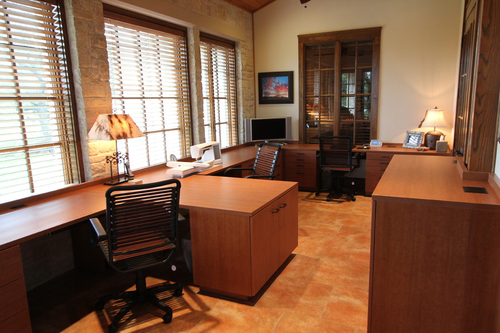 santo sewing craft room home office dallas by