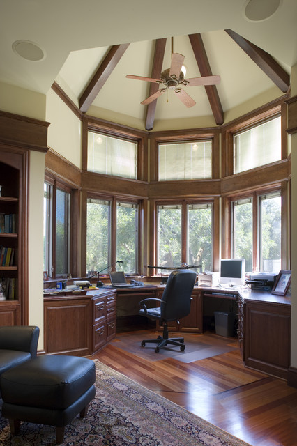 Saratoga English Country Custom Home traditional-home-office