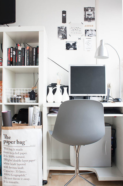 Scandinavian style on a budget in a small city apartment scandinavian home office
