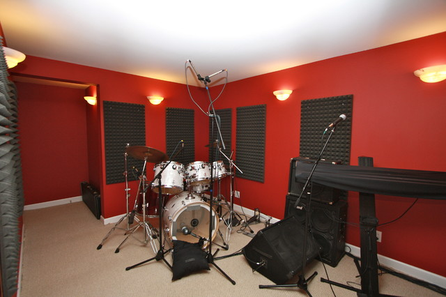 Science of sound cary il home office chicago by for The family room recording studio