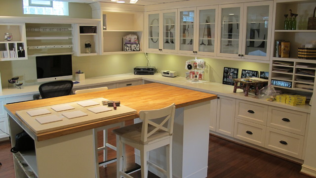 Scrapbooking Room Grosse Pointe Mi Traditional Home Office Other By Millennium Cabinetry