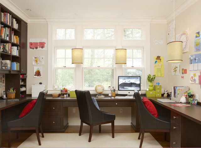 Sears Road Traditional Home Office
