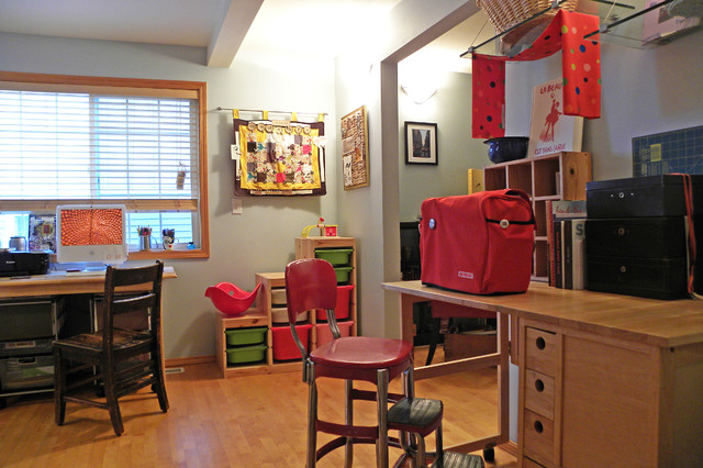 Seattle, WA: Brandon and Rebecca eclectic-home-office
